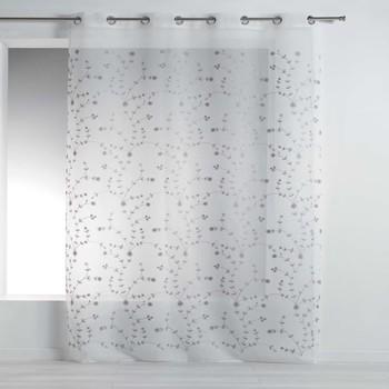 Maison & Déco Voilages Douceur d intérieur PETITE FLEUR Blanc/Gris