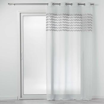Maison & Déco Voilages Douceur d intérieur SANDINA Blanc/Gris
