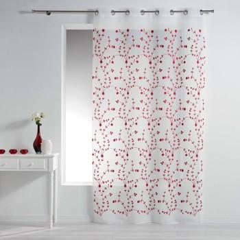 Maison & Déco Voilages Douceur d intérieur PETITE FLEUR Blanc/Rouge