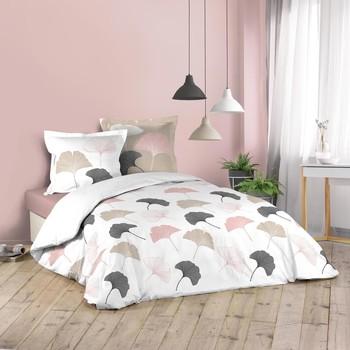 Maison & Déco Parures de lit Douceur d intérieur BILOBA Blanc