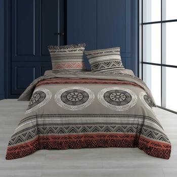 Maison & Déco Parures de lit Douceur d intérieur LINAKE Taupe
