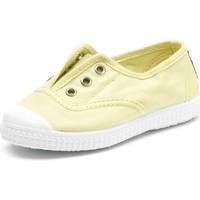 Chaussures Enfant Tennis Cienta Chaussures en toiles bébé  Tintado jaune pastel