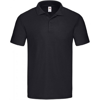 Vêtements Homme Polos manches courtes Fruit Of The Loom SS229 Noir