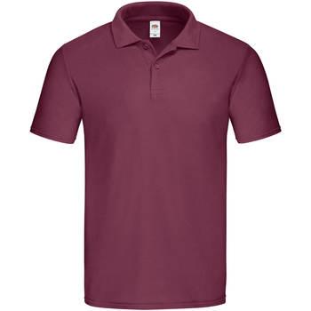Vêtements Homme Polos manches courtes Fruit Of The Loom SS229 Bordeaux