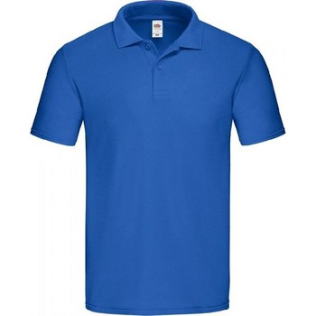 Vêtements Homme Polos manches courtes Fruit Of The Loom SS229 Bleu roi