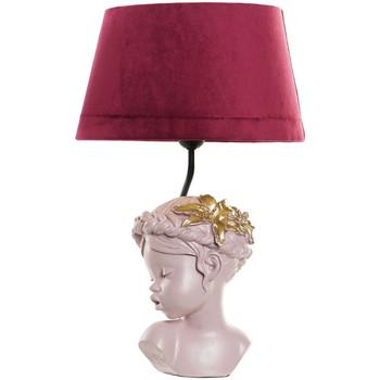 Maison & Déco Lampes à poser Retro Lampe rose fillette en résine 47.5 cm Rose