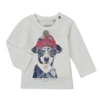 Vêtements Garçon T-shirts manches longues Ikks AUBERGINE Blanc