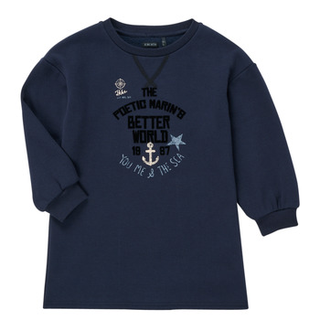 Vêtements Fille Robes courtes Ikks MANDARINE Marine