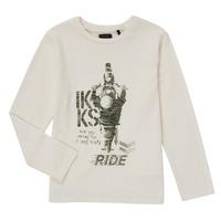 Vêtements Garçon T-shirts manches longues Ikks CERISE Blanc
