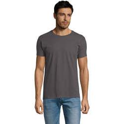 Vêtements Homme T-shirts manches courtes Sols Camiseta IMPERIAL FIT color Gris oscuro Gris
