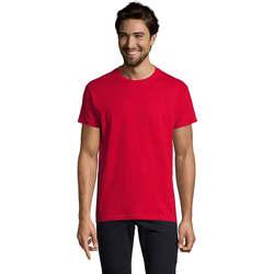 Vêtements Homme T-shirts manches courtes Sols Camiseta IMPERIAL FIT color Rojo Rojo