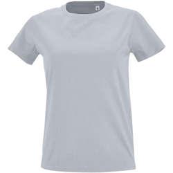 Vêtements Femme T-shirts manches courtes Sols Camiseta IMPERIAL FIT color Gris  puro Gris