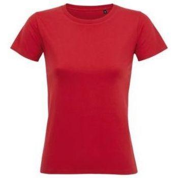 Vêtements Femme T-shirts manches courtes Sols Camiseta IMPERIAL FIT color Rojo Rojo