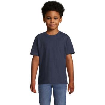 Vêtements Enfant T-shirts manches courtes Sols Camista infantil color French Marino Azul
