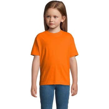 Vêtements Enfant T-shirts manches courtes Sols Camista infantil color Naranja Naranja