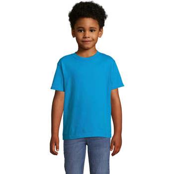 Vêtements Enfant T-shirts manches courtes Sols Camista infantil color Aqua Azul