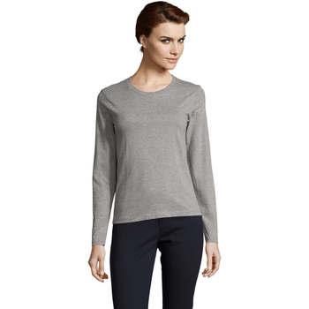 Vêtements Femme T-shirts manches longues Sols Camiseta imperial Women Gris