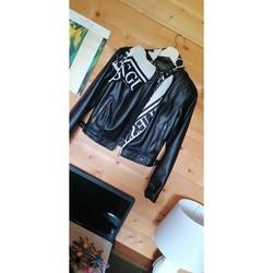 Vêtements Femme Vestes en cuir / synthétiques Guess Veste cuir GUESS Noir