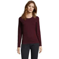 Vêtements Femme T-shirts manches longues Sols Camiseta imperial Women Burdeo