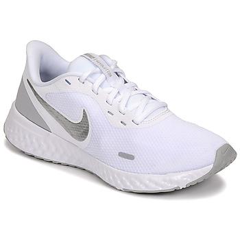 Chaussures Femme Multisport Nike WMNS NIKE REVOLUTION 5 Blanc / Argent