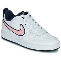 Chaussures Enfant Baskets basses Nike COURT BOROUGH LOW 2 SE1 (GS) Blanc / Rose