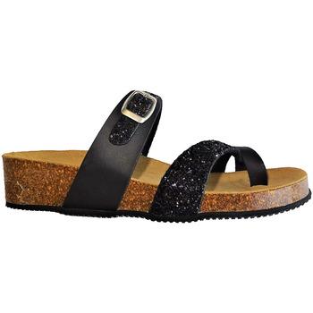 Chaussures Femme Sandales et Nu-pieds La Maison De L'espadrille MULEESPA NOIR GLITTER