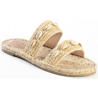 Chaussures Femme Mules Celena Sandales plate CARRIE beige
