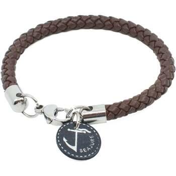 Montres & Bijoux Homme Bracelets Seajure Bracelet Corsica Marron