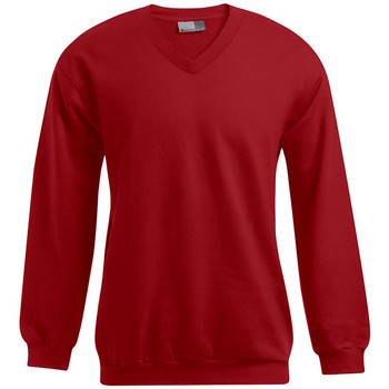 Vêtements Homme Sweats Promodoro Sweat Premium col V grandes tailles Hommes promotion rouge feu