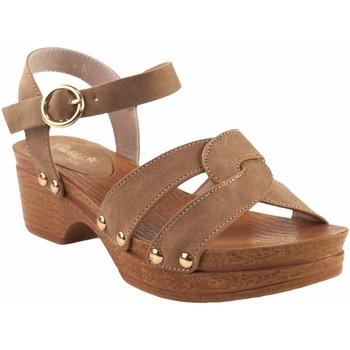 Chaussures Fille Sandales et Nu-pieds Bubble Bobble Sandale fille  a3014 cuir Marron