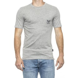 Vêtements Homme T-shirts manches courtes 19V69 Italia Tee-shirt Homme  Tshirt Basic Logo Gris