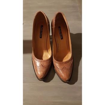 Chaussures Femme Escarpins Atelier Voisin Escarpin cuir Marron