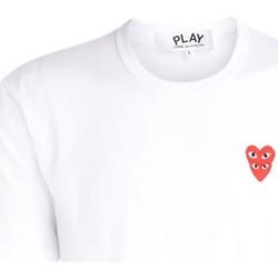 Vêtements Homme T-shirts manches courtes Comme Des Garcons T-Shirt pour hommes  blanc avec cœurs Blanc
