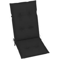 Maison & Déco Galettes de chaise VidaXL Coussin de chaise de jardin 120 x 50 x 7 cm Noir