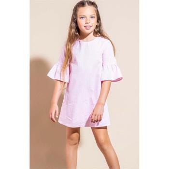 Vêtements Fille Robes courtes Vicolo 3146V0468 robe Enfant ROSE / BLANC ROSE / BLANC