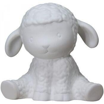 Maison & Déco Lampes à poser Le Monde Des Animaux Veuillez choisir votre genre mouton blanc en porcelaine Blanc