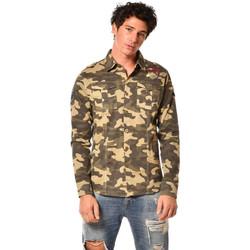 Vêtements Homme Chemises manches longues Von Dutch CHEMISE WAR CK Camouflage