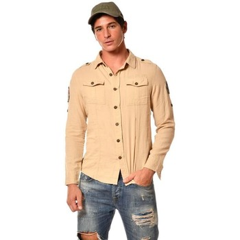Vêtements Homme Chemises manches longues Von Dutch CHEMISE DEN BEIGE Beige