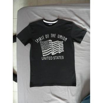 Vêtements Garçon T-shirts manches courtes A-style t-shirt garçon Noir