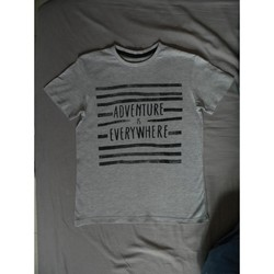 Vêtements Garçon T-shirts manches courtes A-style t-shirt garçon Gris