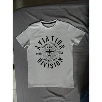 Vêtements Garçon T-shirts manches courtes A-style t-shirt garçon Blanc