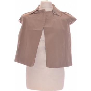Vêtements Femme Tops / Blouses Etam Top Manches Courtes  36 - T1 - S Marron