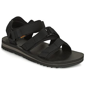 Chaussures Homme Coton Du Monde Teva M Cross Strap Trail BLACK Noir