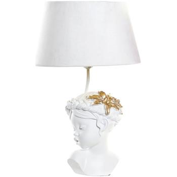 Maison & Déco Lampes à poser Retro Lampe blanche fillette en résine 49 cm Blanc