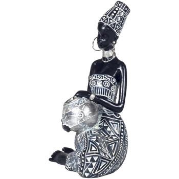 Maison & Déco Statuettes et figurines Zen Et Ethnique Figurine Africaine porteuse d'eau Noir