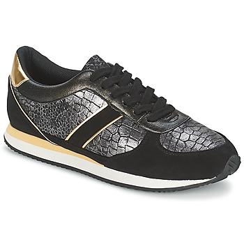 Chaussures Femme Baskets basses Balsamik LILA Noir / Doré