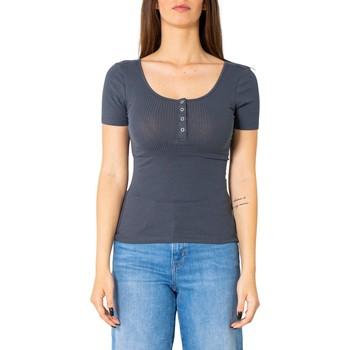 Vêtements Femme T-shirts manches courtes Pieces 17101439 bleu
