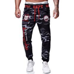Vêtements Homme Projet dintroduction en bourse Cabin Jogging homme camouflage Jogging 601 noir rouge camo Noir