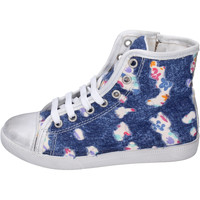 Chaussures Fille Baskets montantes Happiness BH132 Bleu