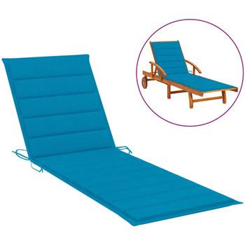 Maison & Déco Galettes de chaise VidaXL Coussin de chaise longue 200 x 70 x 4 cm Bleu